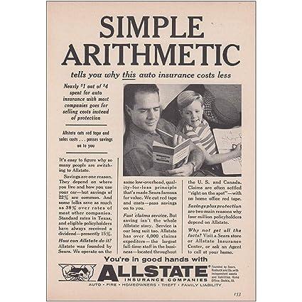 Allstate Customer Care >> Amazon Com Relicpaper 1958 Allstate Insurance Simple