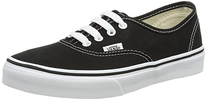 Vans K Authentic Unisex – Kinder Sneaker Schwarz (Black/True Whit 6bt)