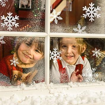 Fensterdeko Weihnachten, Migimi Fensterbilder Aufkleber Weihnachten Wand  Aufkleber Ausgangsdekoration Wohnzimmer PVC Aufkleber Winter Dekoration