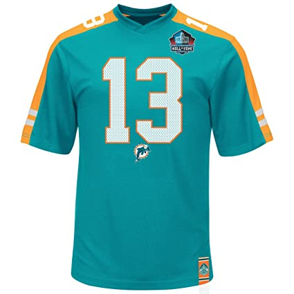 on sale d9acb 9a57c Majestic Athletic Dan Marino Miami Dolphins Hall of Fame Hashmark Green  Jersey T-Shirt