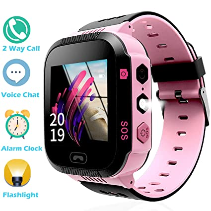 Kids Smart Watch Phone Watch for Boys Girls - Touchscreen Camera 2 Way Call Voice Chat SOS Alarm Clock Anti Lost Flashlight Game Sports Outdoor ...