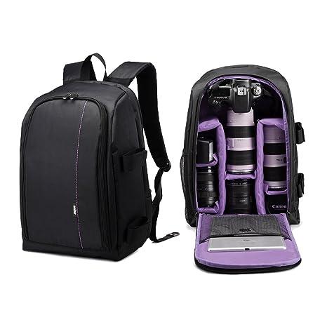 UNHO® Mochila para Nikon, Impermeable para Cámaras reflex, Equipo Fotográfico, Ordenador Portátil