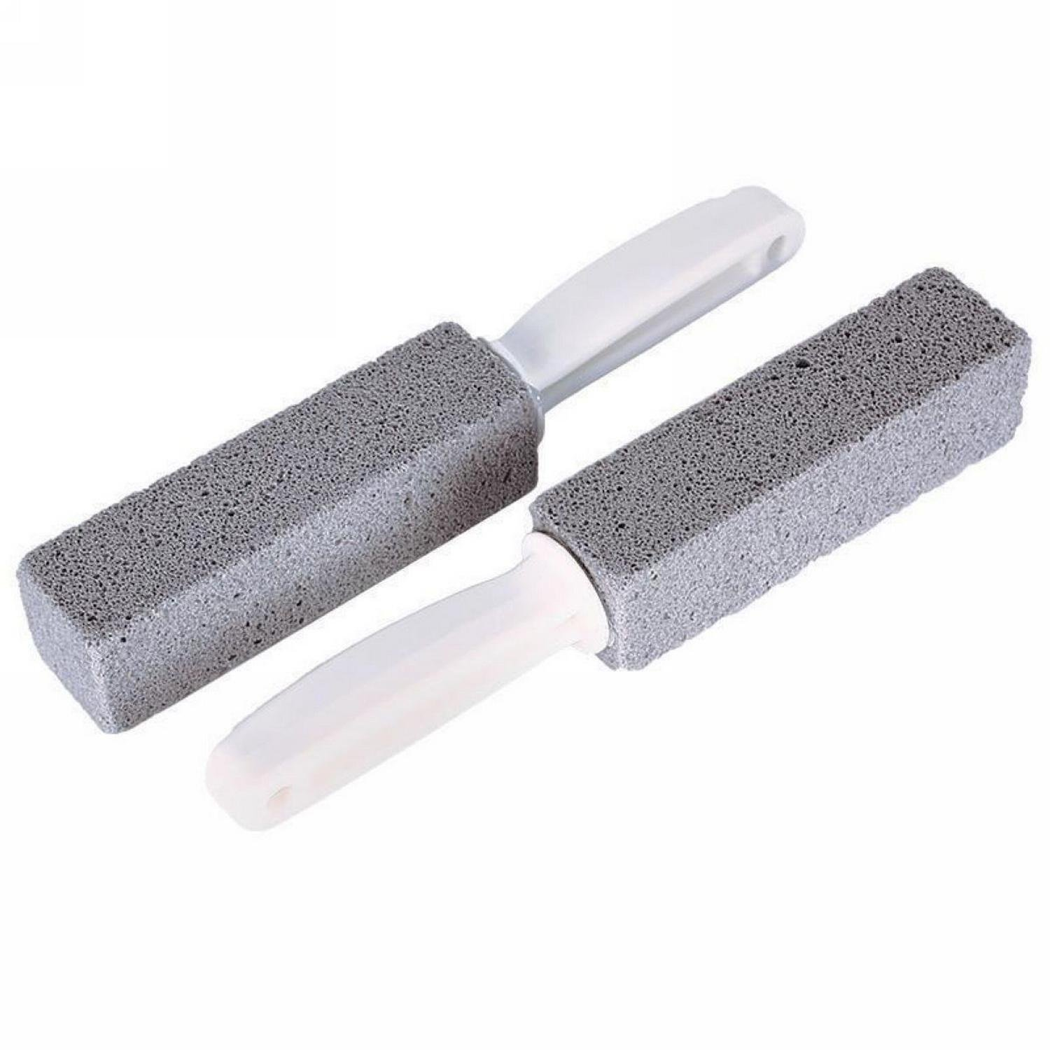 Youcoco 2pcs Water Toilet Bowl Natural Pumice Stone Cleaner Brush Wand Cleaning Tool