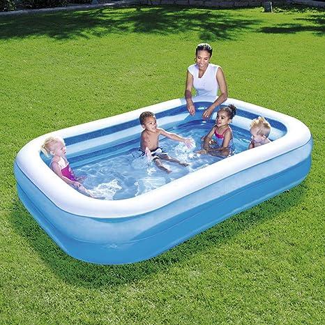 CBA BING Grande Rectangular Piscina Hinchable Piscina Inflable para Niños Jardín Centro Juegos Hinchable Agua Piscinas Rápidas: Amazon.es: Deportes y aire libre