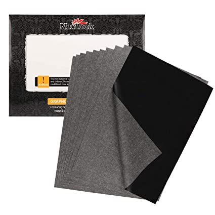 amazon com graphite carbon transfer paper nexlook 50 sheets 9 x