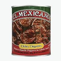 El Mexicano Chile Chipotle Adobado, Picante, 2840 g