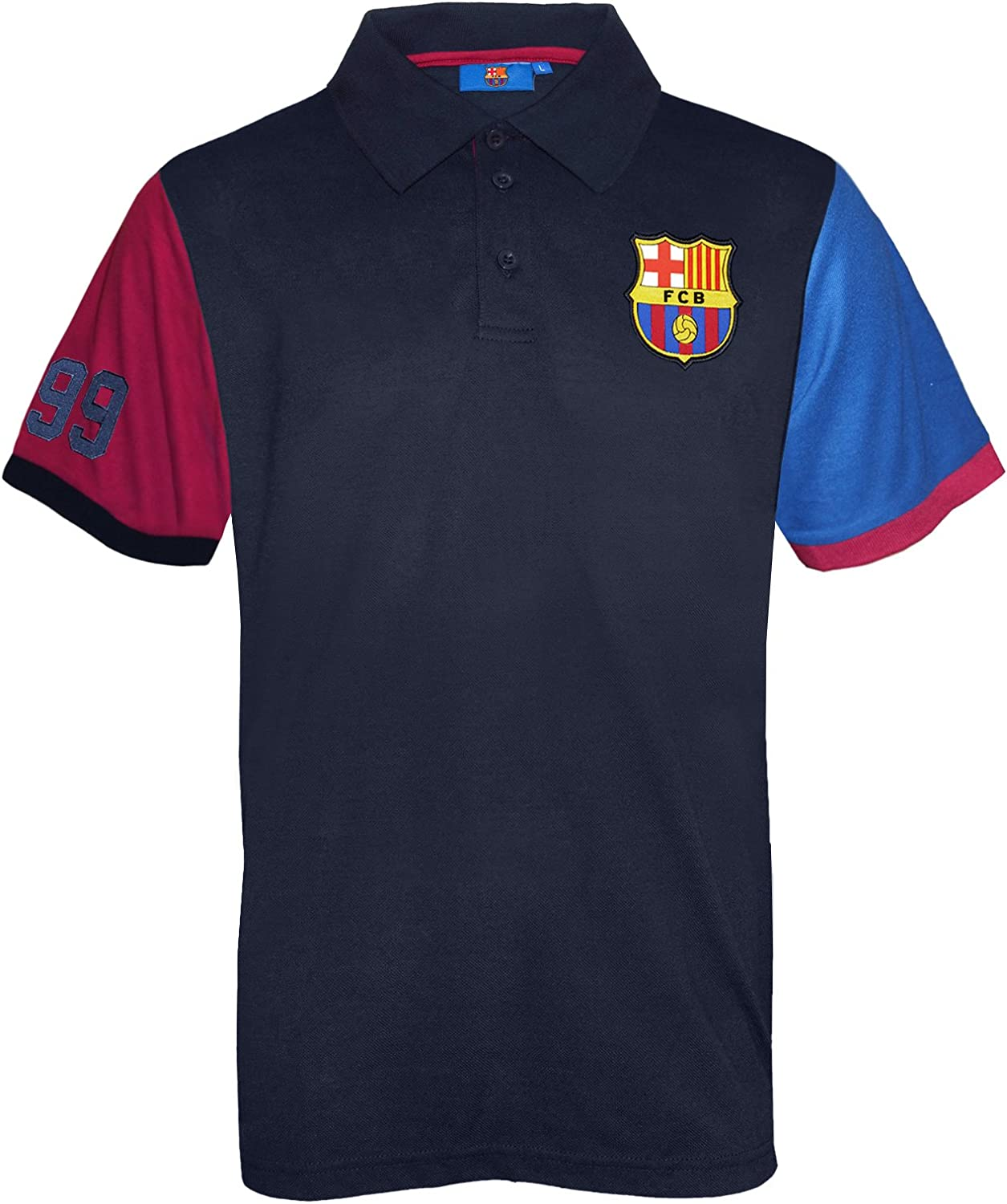 fc barcelona official soccer gift mens polo shirt blue at amazon men s clothing store fc barcelona official soccer gift mens polo shirt blue