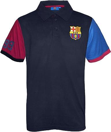 FC Barcelona - Polo oficial para hombre - Azul: Amazon.es: Ropa y accesorios
