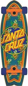 "Santa Cruz Skateboards Rastafied Dot Shark Cruzer Cruiser Complete Skateboard - 8.8"" x 27.7"""
