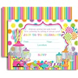 Amazon Com Candy Party Invitations 8ct Kitchen Dining
