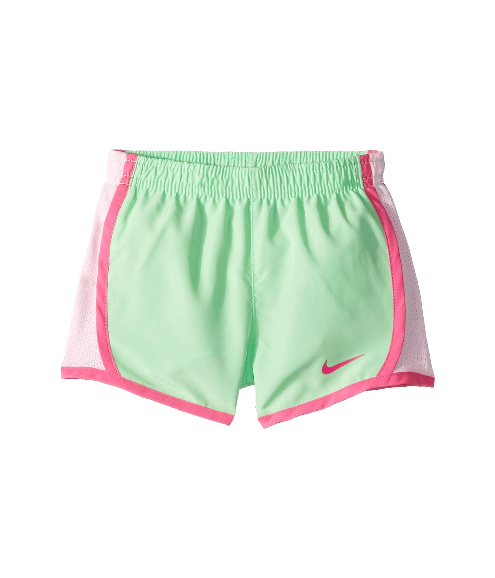 Nike Girl`s Dri-FIT Running Tempo Shorts (Aphid Green(267358-F1K)/Pink, 4T)