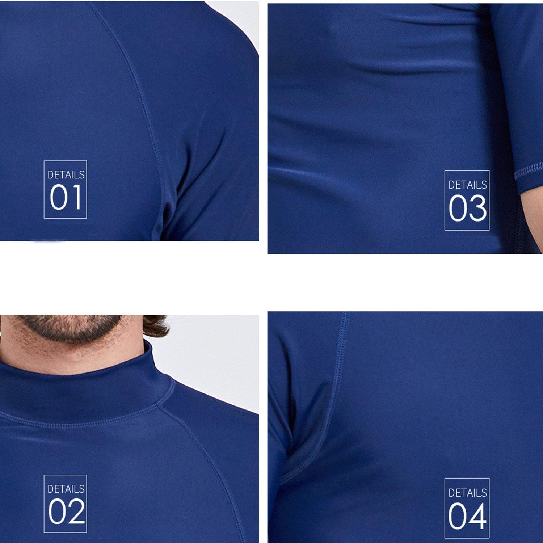 Surf Mens Rashguard UV Sun Protection Swim Shirts Basic Skins Tee Sun Shirt Surfing Diving Shirts Swimwear