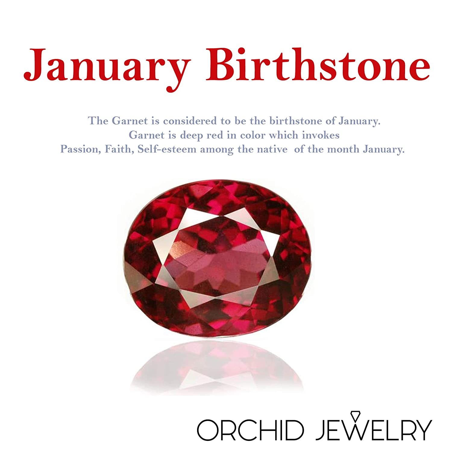 Life For Christmas A Unique Gift Idea For Wife Orchid Jewelry 0.95 Ctw Natural Round Red Garnet Sterling Silver Pendant With An 18 Inch Chain Or Necklace-January Birthstone Gemstone