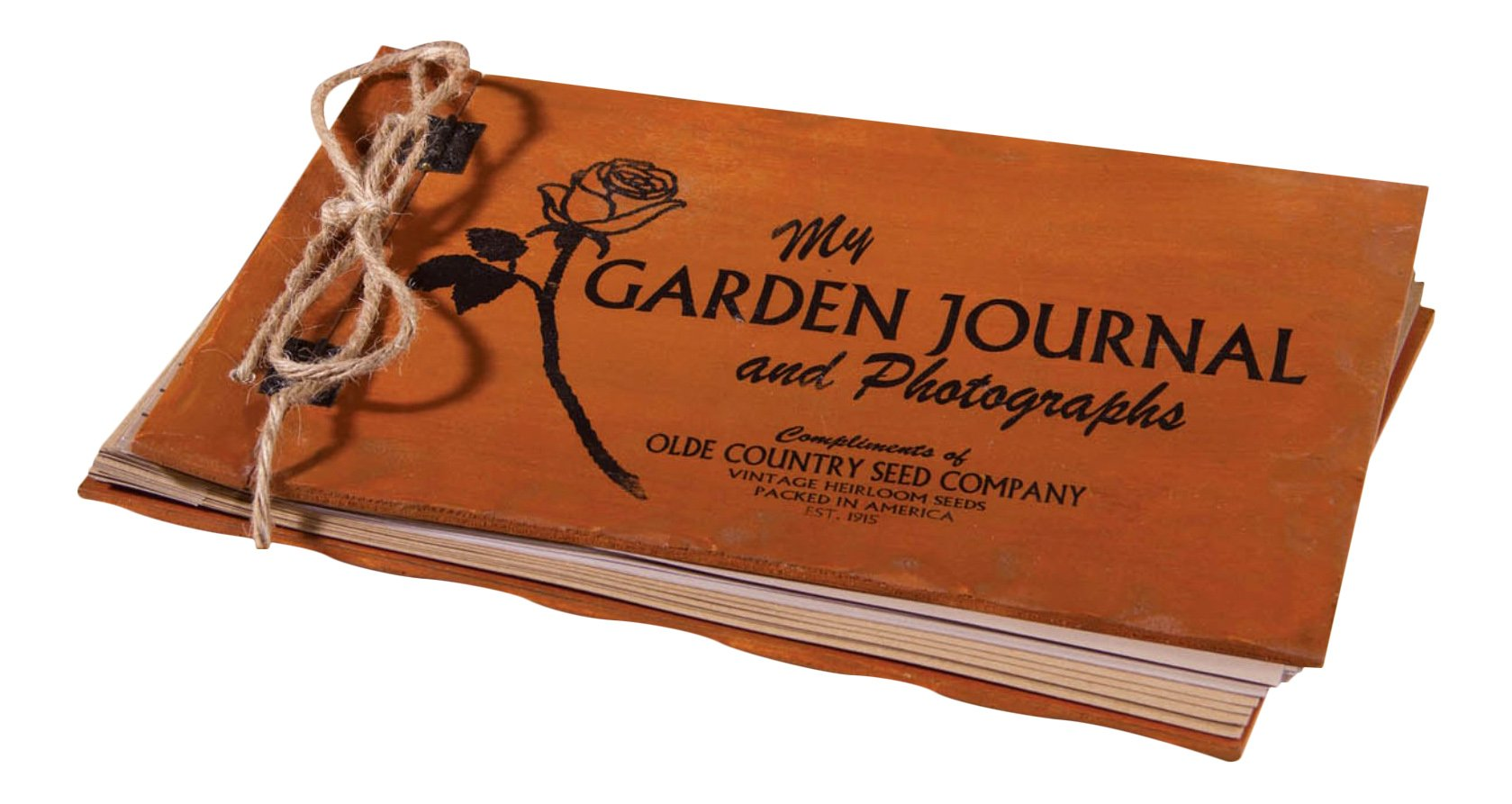 Ohio Wholesale Olde Country Seed Company Advertising Garden Journal Photo Album Wood Covers