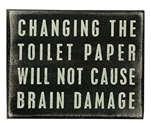Primitives by Kathy Home-Bathroom Box Sign, Classic