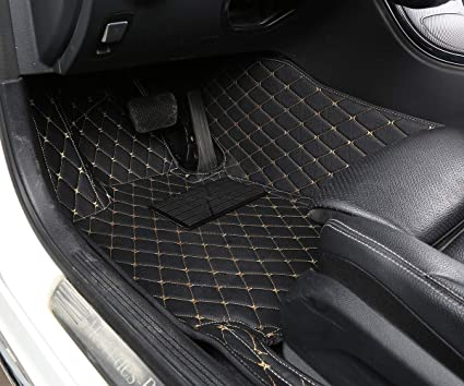 Prestige Set of 4 Black with Black Trim Connected Essentials 5013670 Tailored Heavy Duty Custom Fit Car Mats