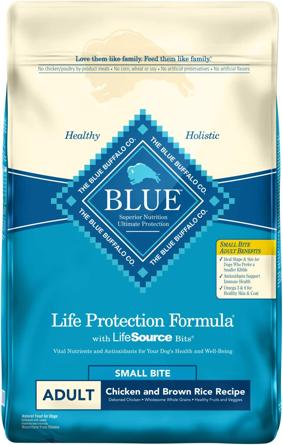 4. Blue Buffalo Life Protection Formula Small Bites