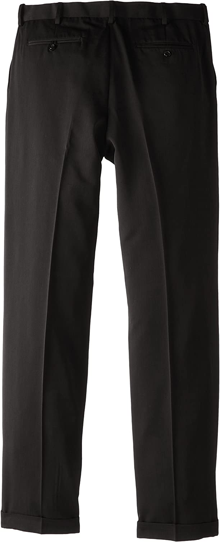 HTOOHTOOH Mens Slim Fit Suit Pants Flat Front Wrinkle-Free Pants
