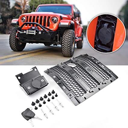 XBEEK 2018-2019 Jeep Wrangler Hood Lock Code with Ignition
