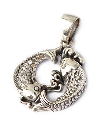 Amazon pisces fish yin yang astrology 925 sterling silver pisces fish yin yang astrology 925 sterling silver charm necklace pendent jewelry sciox Gallery