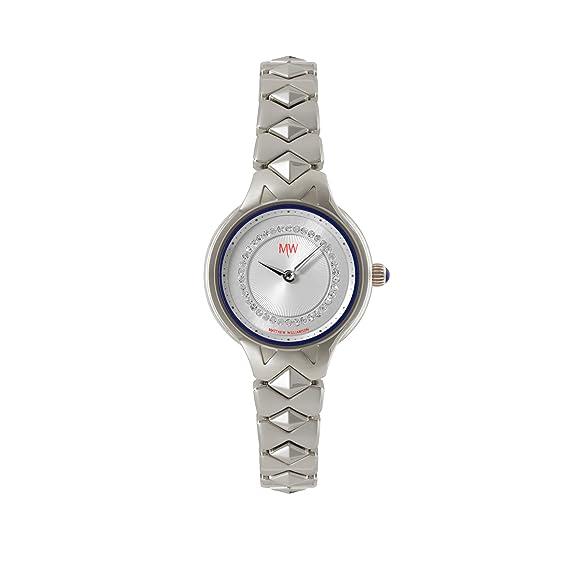 Matthew Williamson LBM34001/06 - Reloj de pulsera mujer, color plateado: Amazon.es: Relojes