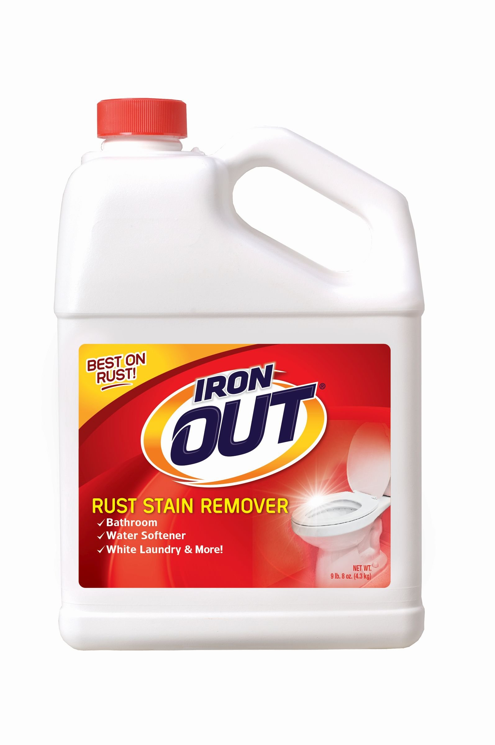 Iron OUT Rust Stain Remover Powder, 9 lb. 8 oz. Bottle, 4 Pack