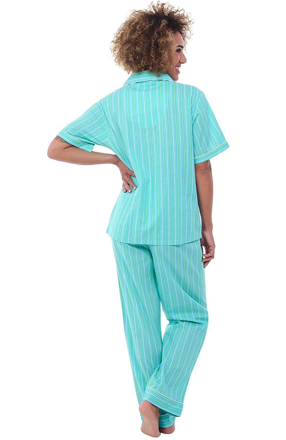 52ff9a4d4 Alexander Del Rossa Womens Woven Cotton Pajama Set with Pants ...