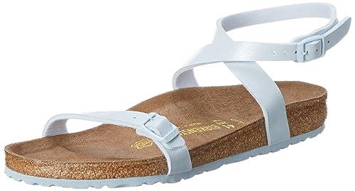 e467658a35ab Birkenstock Women s Daloa Birko-Flor Open Toe Sandals Blue Size  8 ...