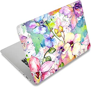 "icolor Laptop Skin Vinyl Sticker Decal, 12"" 13"" 13.3"" 14"" 15"" 15.4"" 15.6 inch Laptop Skin Sticker Cover Art Decal Protector Fits HP Dell Lenovo Compaq Apple Asus Acer (flowers, Art Print)"