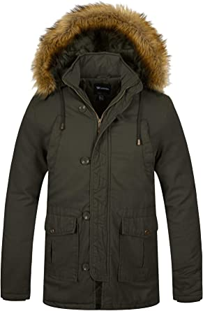 Warm Winter Mens Soft Fur Hooded Jacket Casual Thicken Long Parkas Coat Cool 50