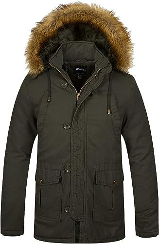 Wantdo Mens Winter Thicken Cotton Parka Jacket Warm Outwear Coat