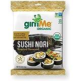 gimMe Organic Roasted Seaweed - Restaurant-style Sushi Nori Sheets - 0.81 Ounce