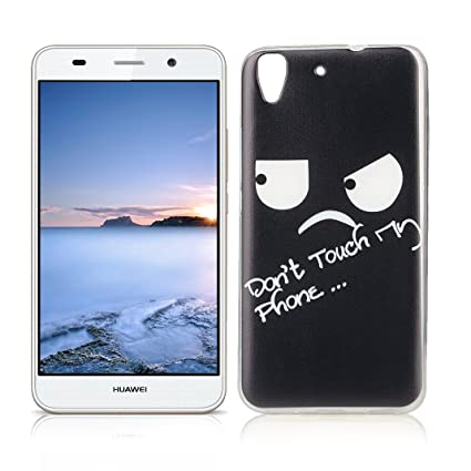 OuDu Funda para Huawei Y6 II/Y6 2 Carcasa Protectora Caso Silicona TPU Funda Suave Soft Silicone Case - Dont Touch My Phone