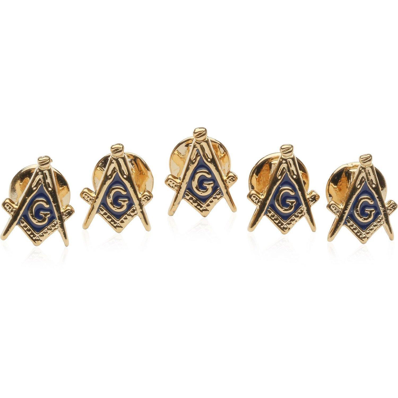 Freemason Masonic Stud Set with 5 Studs by Cuff-Daddy