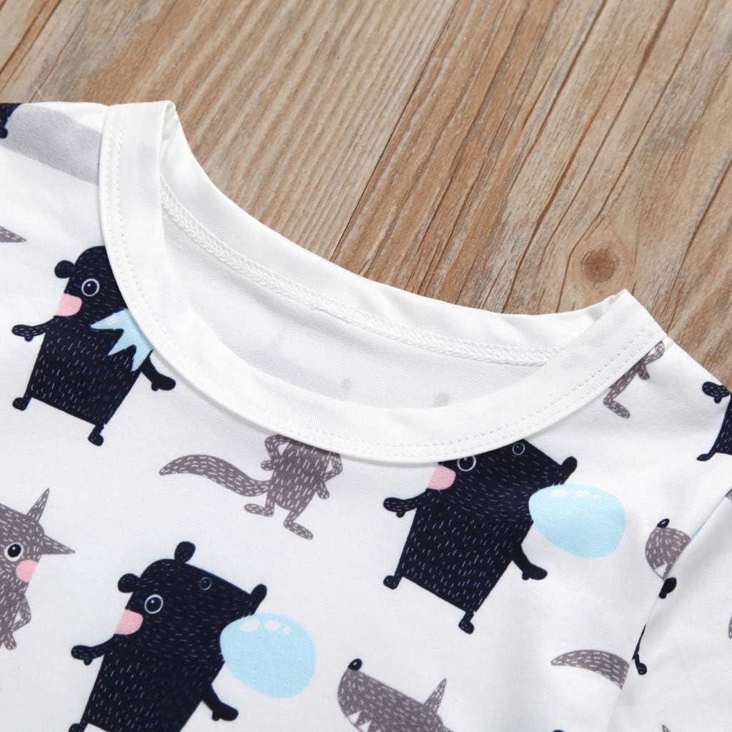 TIANRUN Toddler Baby Boy Girl Kid Short Sleeve Cartoon Dog Printed Tops Summer Crewneck Cute T-Shirt Clothes