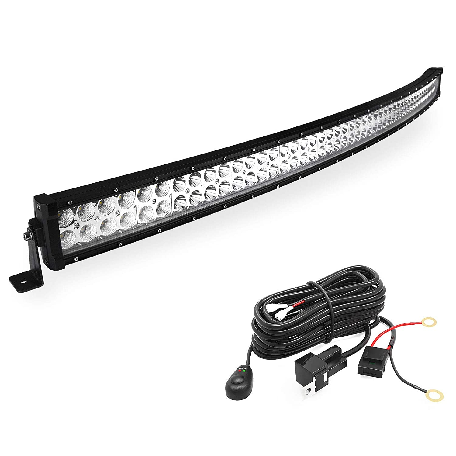 Led Light Bar Yitamotor 50 Inch Curved Spot 1986 Dodge 1500 Pickup Wiring Flood Combo Offroad With Harness For Ford Gmc Truck Jeep Cherokee Ram