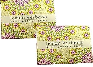 Greenwich Bay Trading Company Set of Two 10.5 oz Shea Butter Soap Bars (Lemon Verbena)