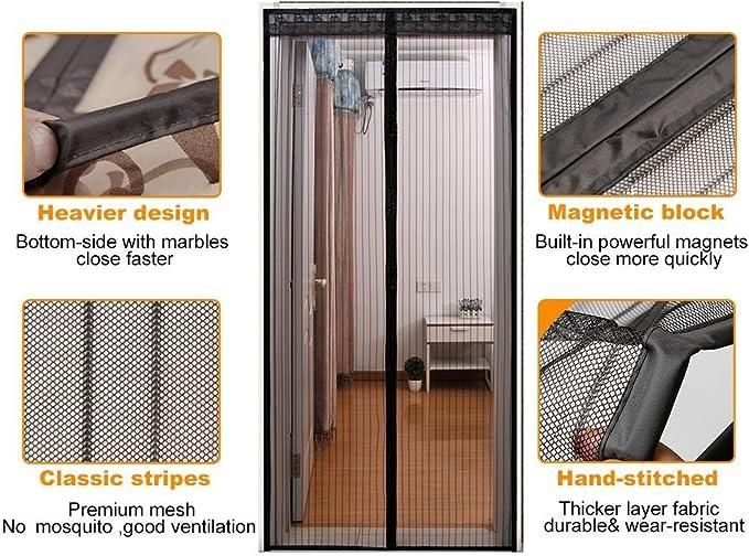 Black Magnet Fliegenvorhang Passt T/ürgr/ö/ße bis zu CHENG Magnet/Fliegengitter/T/ür 115x210cm Insektenschutz Magnet Fliegenvorhang