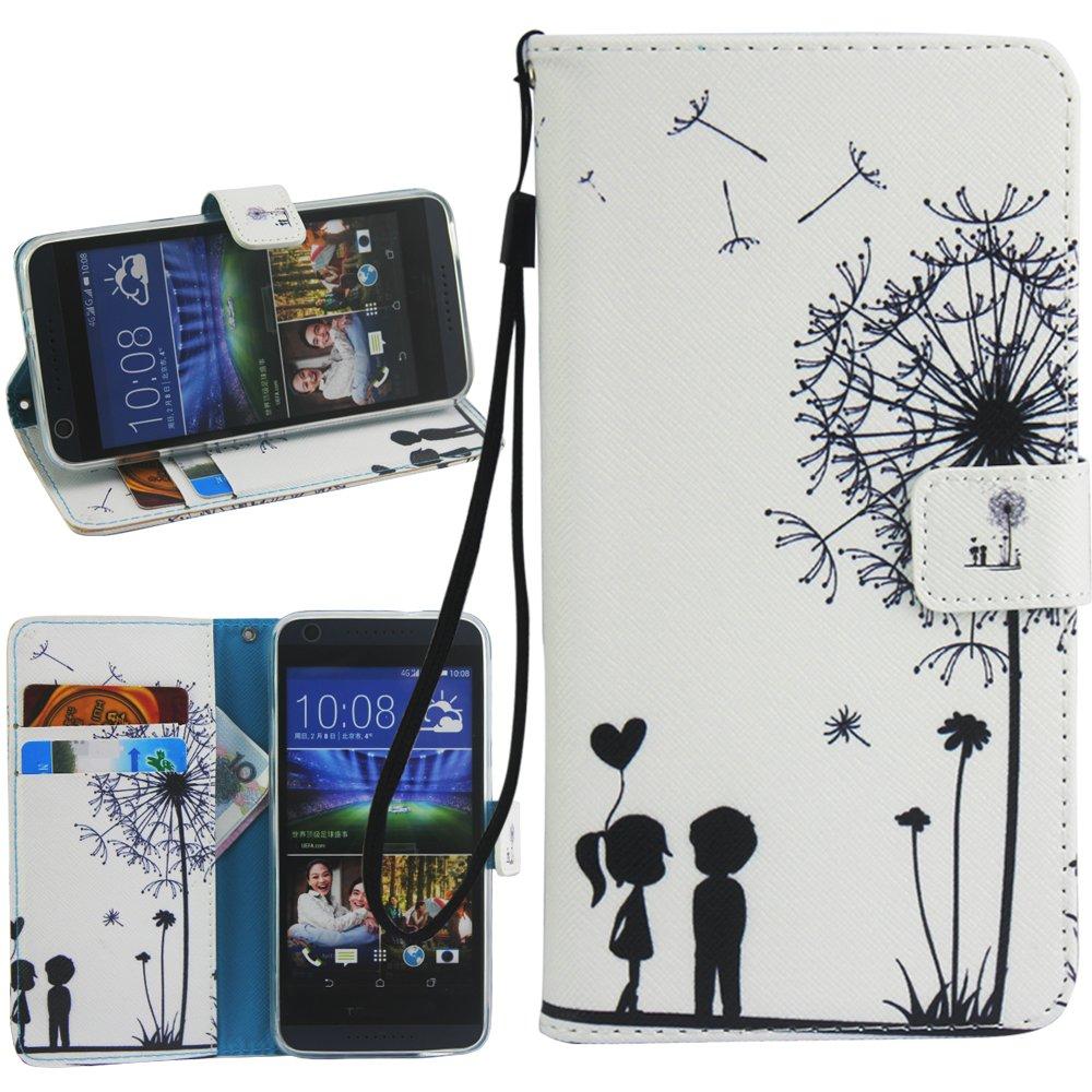 Dooki, HTC Desire 530 Coque, Supporter Flip PU Cuir Pochette Portefeuille Housse Coque Etui pour HTC Desire 630 avec Cré dit Carte Tenant Fente (B-2) DKD530PUB