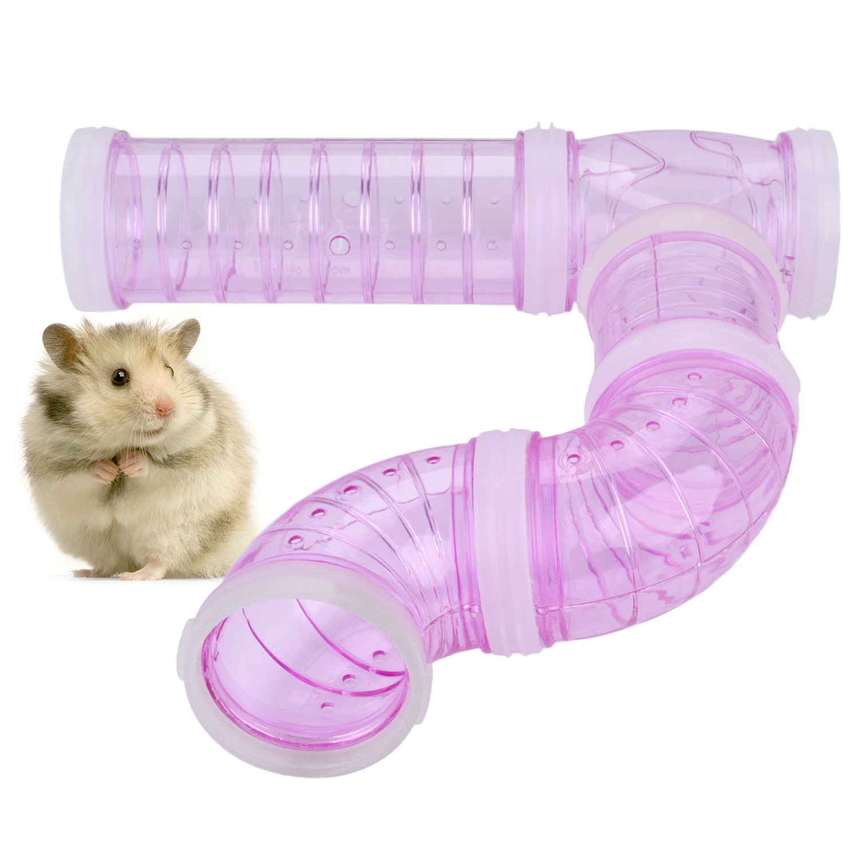 Legendog Small Animal Tube, 4Pcs Hamster Tube DIY Cage Tube Hamster Cage Toy Pet Toy for Small Animal