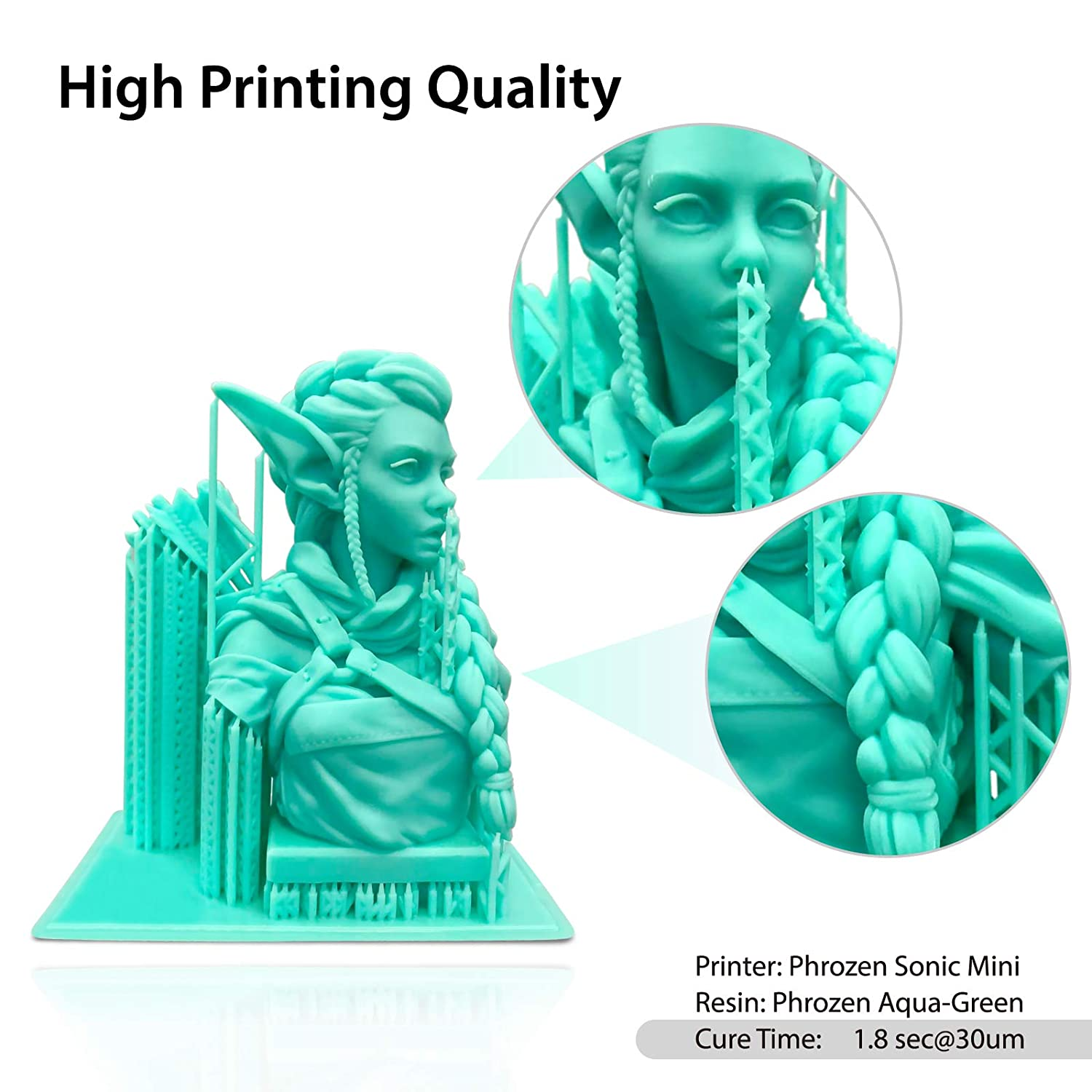 5.5 LCD Resin 3D Printer with easy-to-use interface touch screen,Parallel UV LED and Metal Vat,Printing Volume L4.7 x W2.6 x H5.1 in PHROZEN Sonic Mini