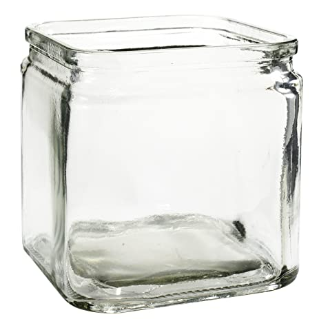 Amazon Flower Rose Glass Lip Cube Vase Decorative Centerpiece