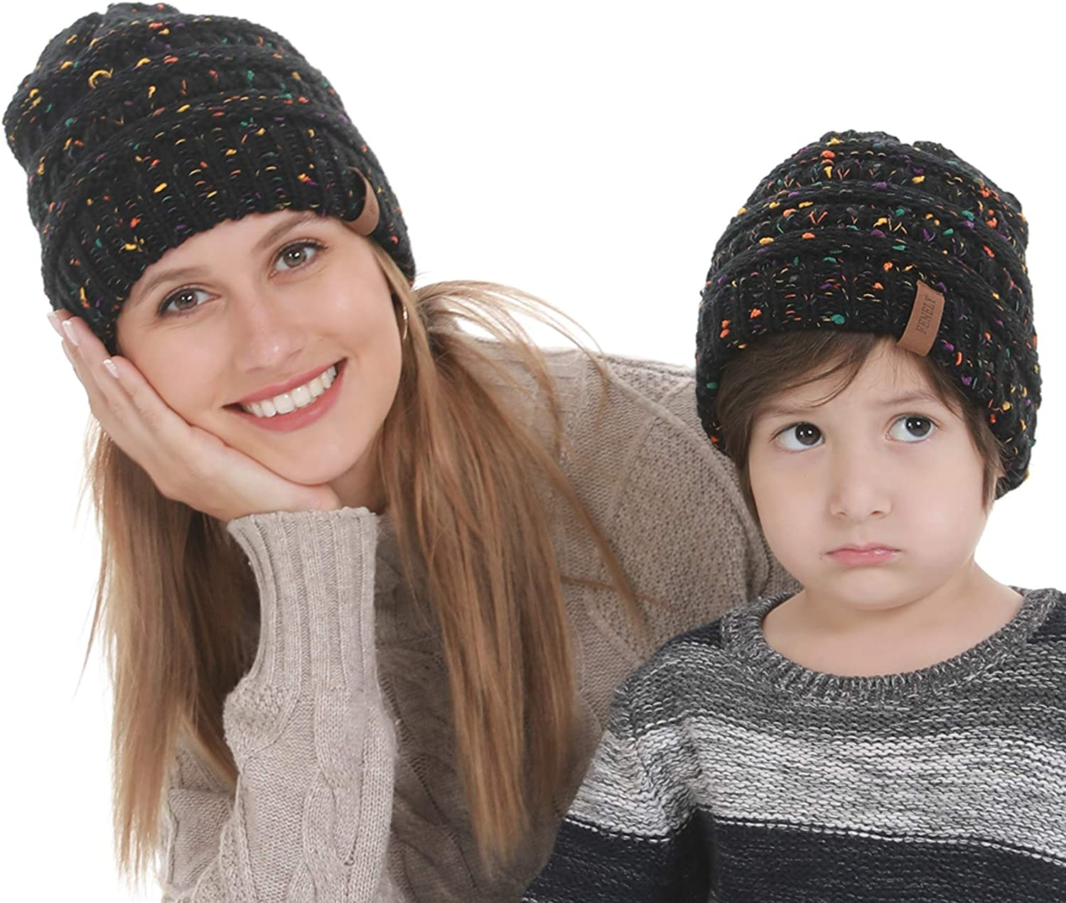 Mommy and Me Knit Hat Set  adult hat  womens beanie  infant fall hat  baby beanie  toddler hat  child winter hat