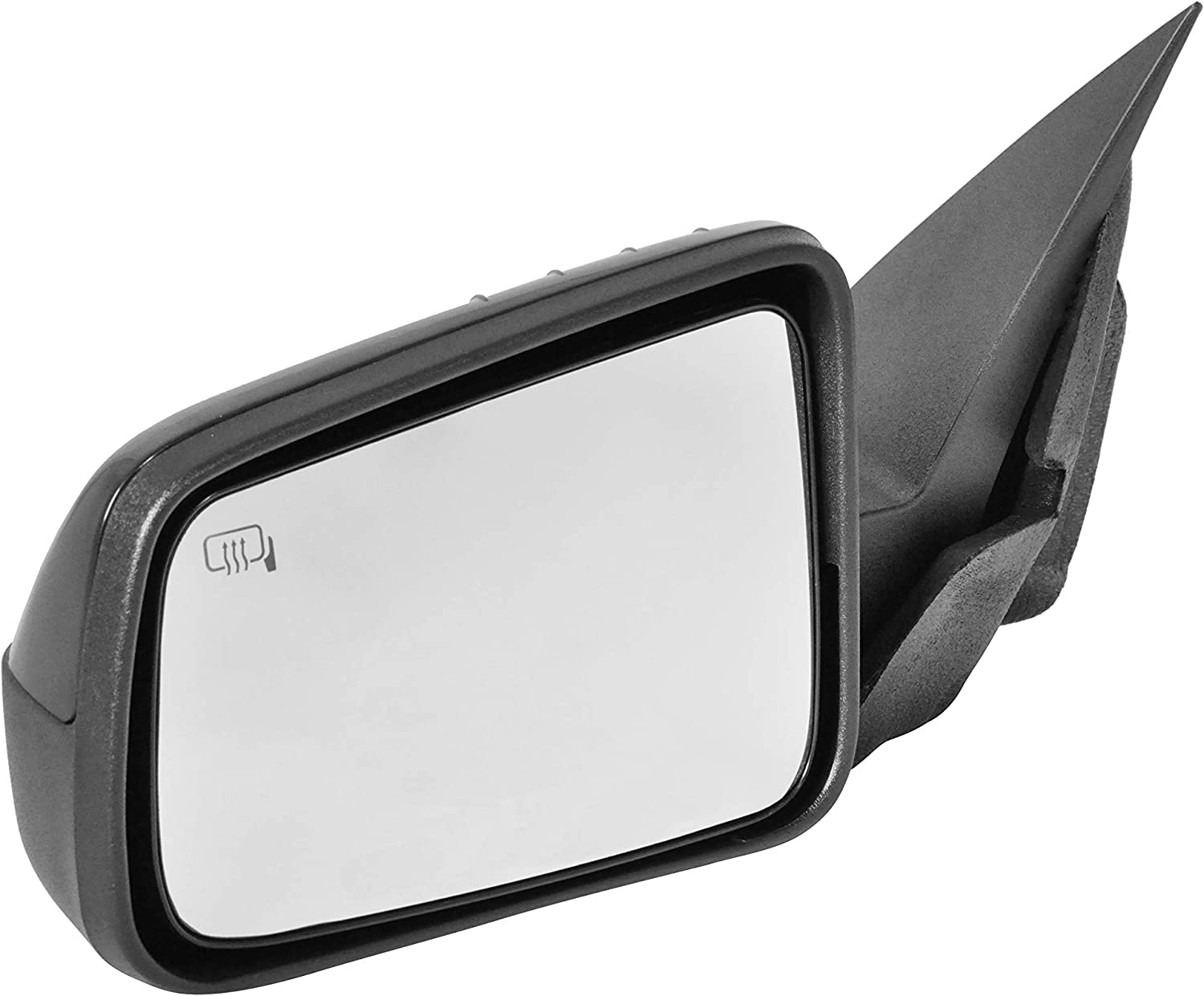 Left Driver Side Unpainted Power Operated FO1320317 Heated Mirror for 2008-2011 Ford Fusion Manual Folding