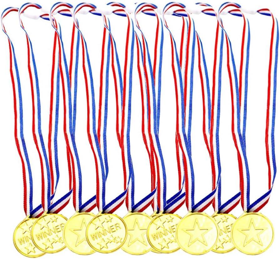 Aweisile Medallas 30 Piezas Medallas de Plastico Medallas para Niños Medallas Winner con Hebilla para Medallas del día Deportivo Juegos de Fiesta para Niños Competencia de Medallas para Niños