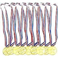 Aweisile Medailles 30 Stks Medailles voor Sport Dag Medailles Winnaar Award Plastic Medailles Gouden met Veiligheidsgesp…