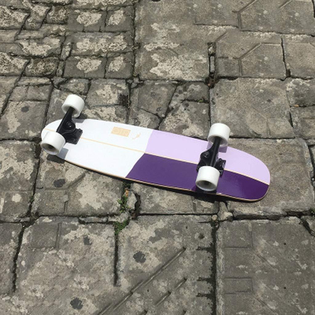 プロフェッショナルビッグフィッシュボード大人初心者四輪スケートボードスモールフィッシュプレートティーンエイジャーボーイズ&ガールズロードストリートショートボード (色 (色 B07KK96QZ2 : purple Stitching blue) B07KK96QZ2 Stitching purple Stitching purple, アートブラウン 革小物 ベルトの店:b10bcf76 --- grupocmq.com