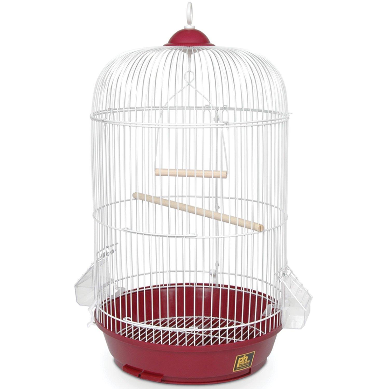 Red Prevue Hendryx Classic Round Bird Cage, Red