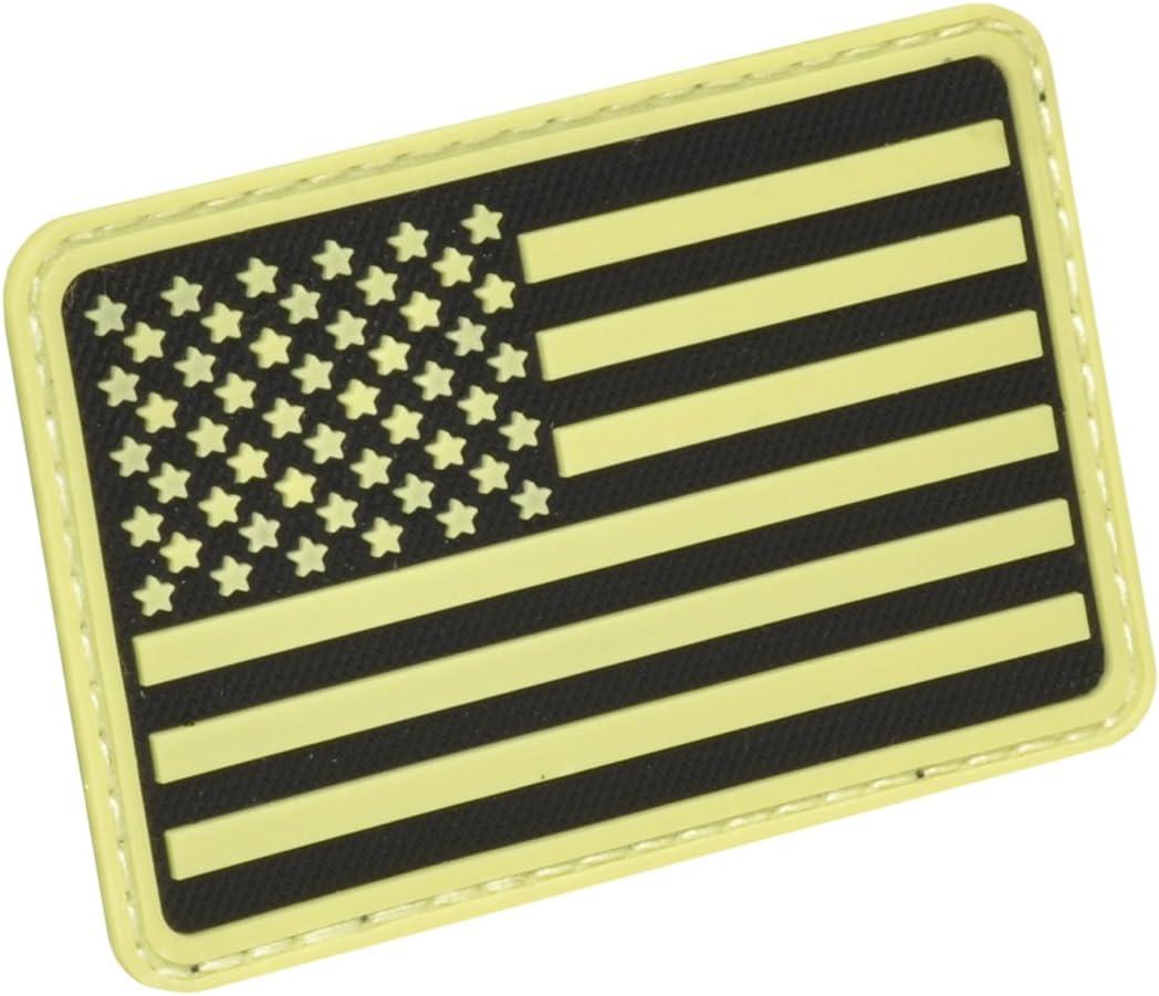 Hazard 4 3D EE.UU. Bandera Moral Patch (Brazo Izquierdo) Brillar en la Oscuro: Amazon.es: Deportes y aire libre