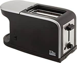 Elite Gourmet Dual Function Breakfast Station Toaster, 2 in 1, Black